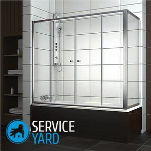Як встановити скляну шторку на ванну?