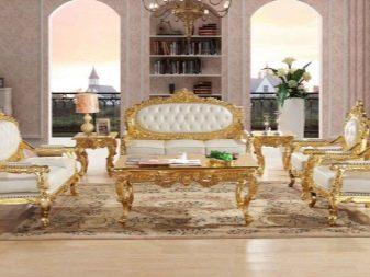 Дивани в стилі бароко (39 фото): кутовий, з розкладним механізмом, двомісний, спальний та інші. Поради щодо вибору