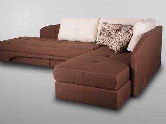 Дивани з поворотним механізмом: плюси і мінуси механізму «ножиці» у кутовому викатному дивані, особливості трансформації дивана-ліжка