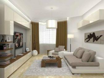 Дизайн вітальні 15 кв. м (74 фото): інтер'єр кімнати-зали 15 квадратних метрів у сучасному іншому стилі в квартирі, бюджетні варіанти