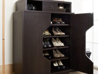 Комод для взуття в передпокій (63 фото): вузькі білі обувниці з полицями та інші взуттєві комоди. Як вибрати?