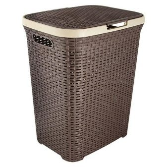Корзина для білизни в ванну (56 фото): вбудовані вузькі і кутові, плетені скриньки для брудної білизни і контейнери розміром 15 см, 20 і 25 см