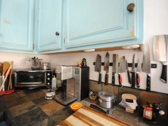 Магнітний тримач для ножів (29 фото): як вибрати магніт на стіну? Як правильно вішати настінні власники на кухні?