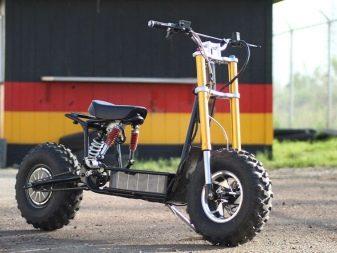 Позашляховий електросамокат: дорослий електричний самокат з великими колесами для бездоріжжя, рейтинг найпотужніших електросамокатів-позашляховиків