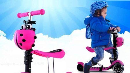 Самокати 3 в 1: дитячий самокат «Божа корівка» і огляд інших моделей. Інструкція по їх експлуатації. Як зібрати самокат-каталку?