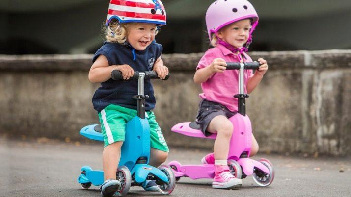 Самокати з сидінням: триколісні дитячі самокати-трансформери з мотором і інші моделі для дитини і дорослого