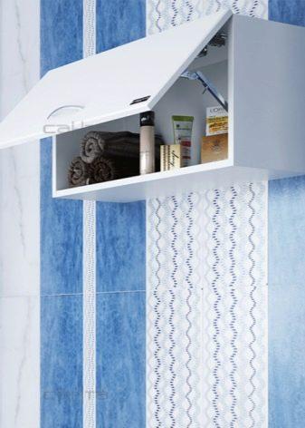 Шафи без дзеркала для ванних кімнат: вибираємо навісні білі і іншого кольору шафки, поєднання настінної шафи із загальним інтер'єром ванної