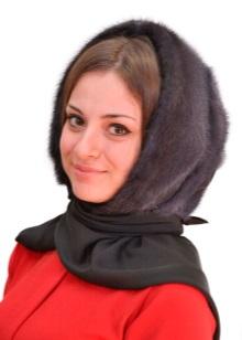 Шапка-косинка (21 фото): тепла модель для дівчинки з норки, яка краще – в'язана або хутряна норкова