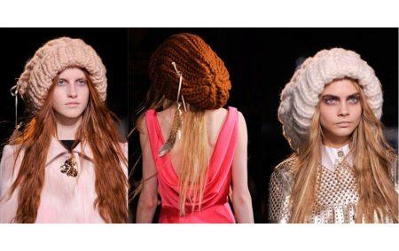 Шапка великої в'язки (72 фото): з відворотом, з великої пряжі, ковпак, з косами