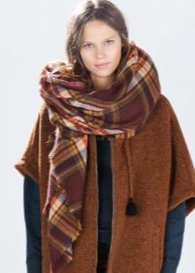 Шарф-плед (53 фото): як і з чим правильно носити великий шарф-плед Zara