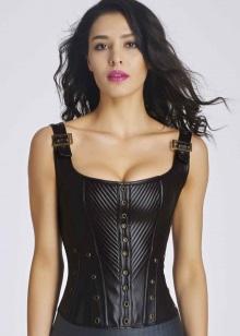 Шкіряний корсет (44 фото): моделі у вигляді ременя або пояси з шкіри, жіночий корсет під груди