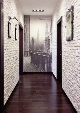 Шпалери під цеглу в інтер'єрі передпокою (44 фото): вибираємо шпалери під білу та іншу цегляну стіну в коридорі. Варіанти дизайну