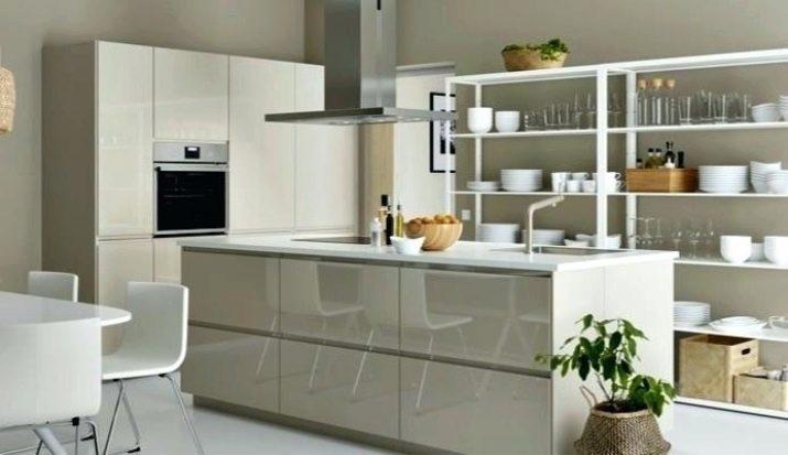 Стелажі на кухню (45 фото): кухонні моделі з нержавіючої сталі і дерев'яні, стелажі для побутової техніки, прямі і кутові варіанти в інтер'єрі