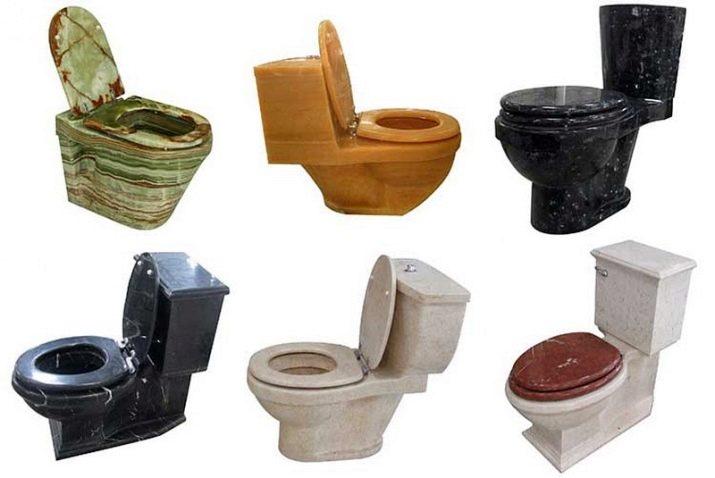 З чого роблять унітази? Порцелянові і пластикові, фаянсові і металеві, мармурові та з нержавійки, прозорі і скляні